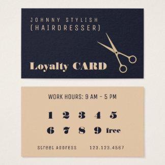 Modern professional style loyalty card