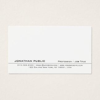 Modern Professional White Creative Clean Plain Business Card