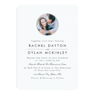 Modern Profile Wedding Card