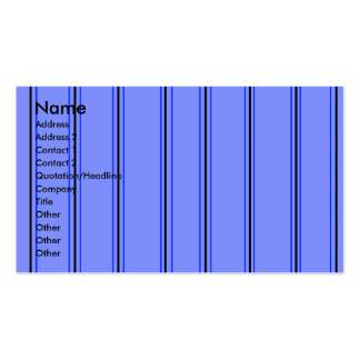Modern purple and blue pinstripes business cards