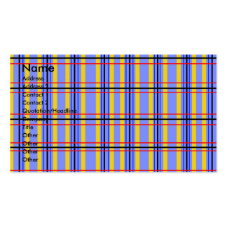 Modern purple and blue plaid business card