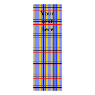 Modern purple and blue plaid business cards