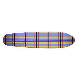 Modern purple and blue plaid skate board