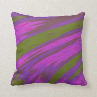 Modern Purple and Green Colour Abstract Design Cushion