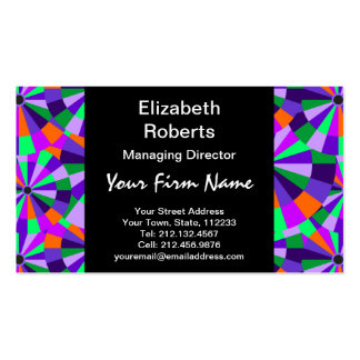 Modern Purple and Green Futurist Circles Pack Of Standard Business Cards