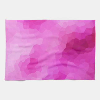 Modern Purple and Pink Stained Glass Mosaic Tea Towel