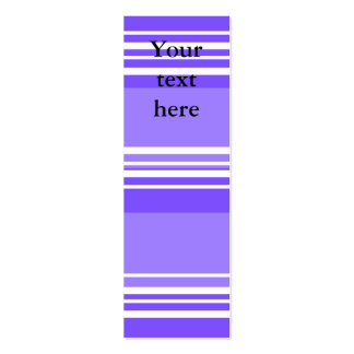 Modern purple and white stripes business cards
