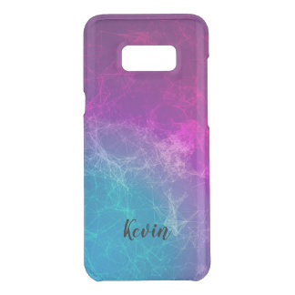 Modern Purple & Blue Abstract Polygonal Background Uncommon Samsung Galaxy S8 Plus Case