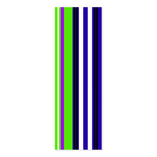 Modern purple blue green and black stripes pack of skinny business cards