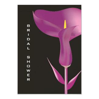 """Modern Purple Calla Lily Bridal Shower Invitation 5"""" X 7"""" Invitation Card"""