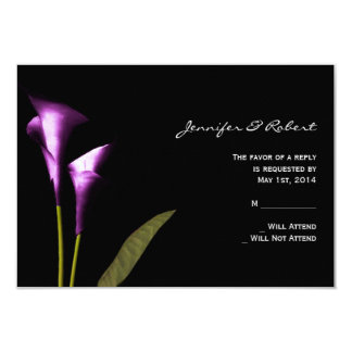Modern Purple Calla Lily  Response Card 9 Cm X 13 Cm Invitation Card