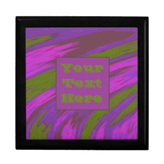 Modern Purple chartreuse Color Swish Gift Box