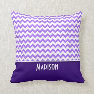 Modern Purple Chevron Cushion