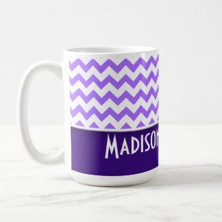 Modern Purple Chevron Basic White Mug