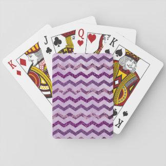 Modern Purple Chevron Pattern Card Decks