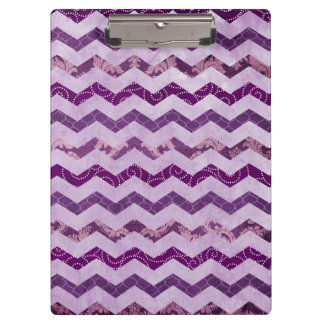 Modern Purple Chevron Pattern Clipboard