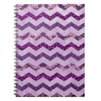Modern Purple Chevron Pattern Note Books