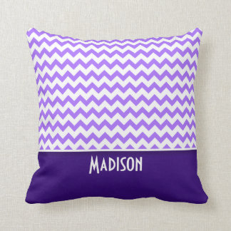 Modern Purple Chevron Throw Pillow