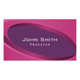 Modern Purple Curves Producer Business Card
