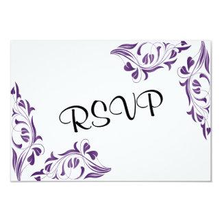 Modern Purple Floral Card