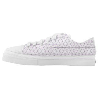 Modern Purple geometric triangle shoe