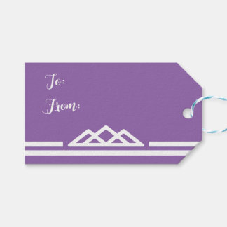 Modern Purple Geometric Triangle Tribal Wedding