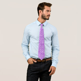 Modern Purple Glitter Texture Pattern Tie