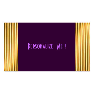 Modern Purple Gold Elegant Cool / House-of-Grosch Pack Of Standard Business Cards