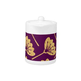 Modern Purple & Gold Florals