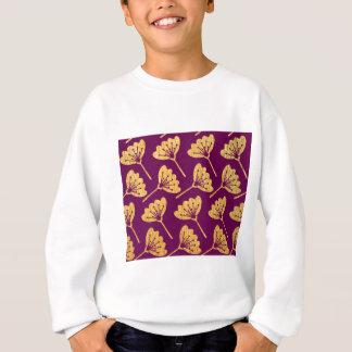 Modern Purple & Gold Florals Sweatshirt