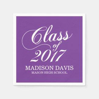 Modern Purple | Graduation Napkins Disposable Napkin