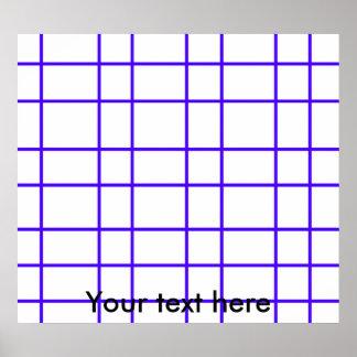 Modern purple grid pattern poster