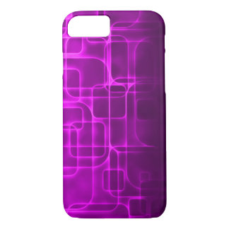 Modern Purple Laser Art iPhone 7 Case