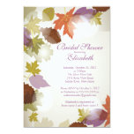 Modern Purple Leaf Bridal Shower Invitation