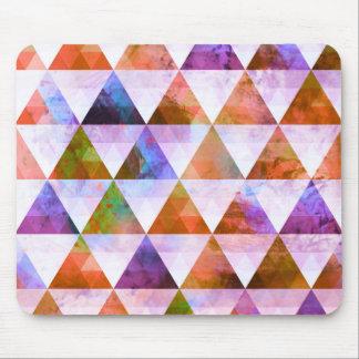 Modern Purple & Orange Geometric Triangle Design Mouse Pad