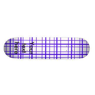 Modern purple plaid on white background 21.6 cm old school skateboard deck