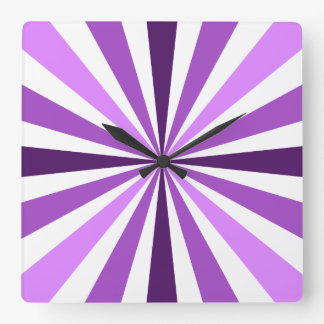 Modern Purple Stripe Clock