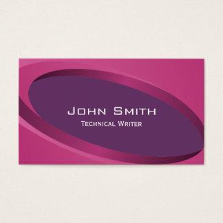 Modern Purple Technical Writer Business Card