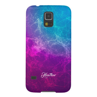 Modern Purple To Blue Ombre Polygonal Background 3 Galaxy S5 Cover