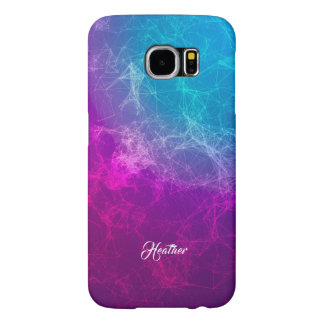 Modern Purple To Blue Ombre Polygonal Background 3 Samsung Galaxy S6 Cases