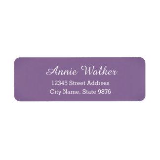 Modern -Purple Violet- Return Address Label
