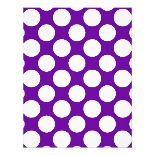 Modern Purple White Polka Dots Pattern Flyer