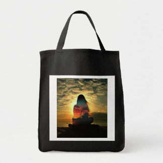 Modern purse for the purchases tote bag