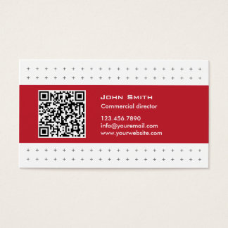 Modern QR Code Commercial Director Business Card