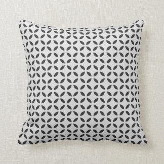 Modern Quatrefoil Japanese Flower of Life Pattern Cushion