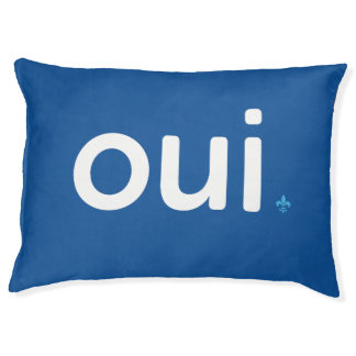 Modern Quebec YES referendum French lily Pet Bed