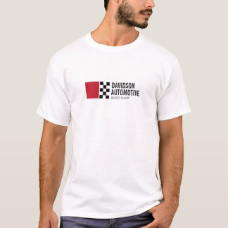 Modern Racing Flag Logo in Red II Automotive T-Shirt