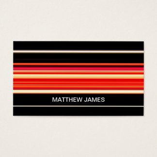 Modern Racing Stripes Personalized Barely Business Card