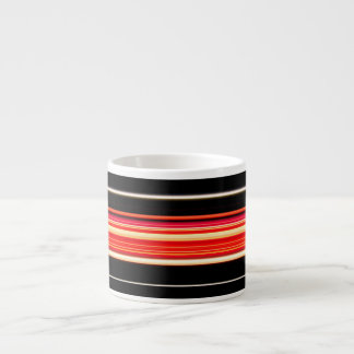 Modern Racing Stripes Personalized Espresso Cup
