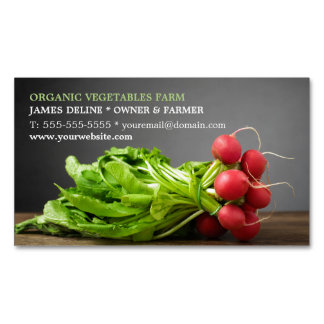 Modern Radish/ Organic Farm Magnetic Business Cards